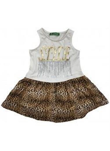 Cichild Cichlid Elbise Kız Çocuk Leopar Desenli Leopar